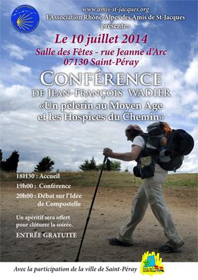 Conférence de JFW le 10 juillet 2014 à Saint-Peray